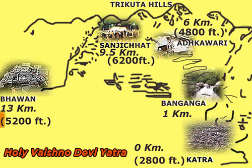 Vaishno Devi Route Map