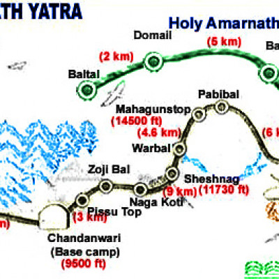 Amarnath Route Map